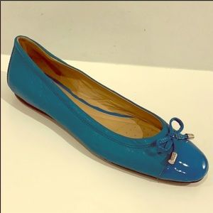 GEOX RESPIRA Turquoise Leather Flats Size 9